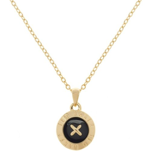 Bijoux femme ted baker emmalyn enamel big button pendentif collier tbj1261-02-05